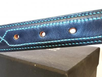#SOLD -- #SALE - Teal Trims: Raised Diamond Eye in Blue and Teal (Limited Edition) (large)