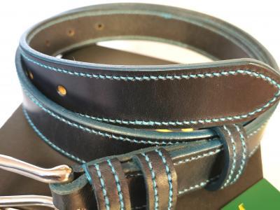 #SALE - Teal Trims: Border Belt in Blue and Teal (Limited Edition) (Med)