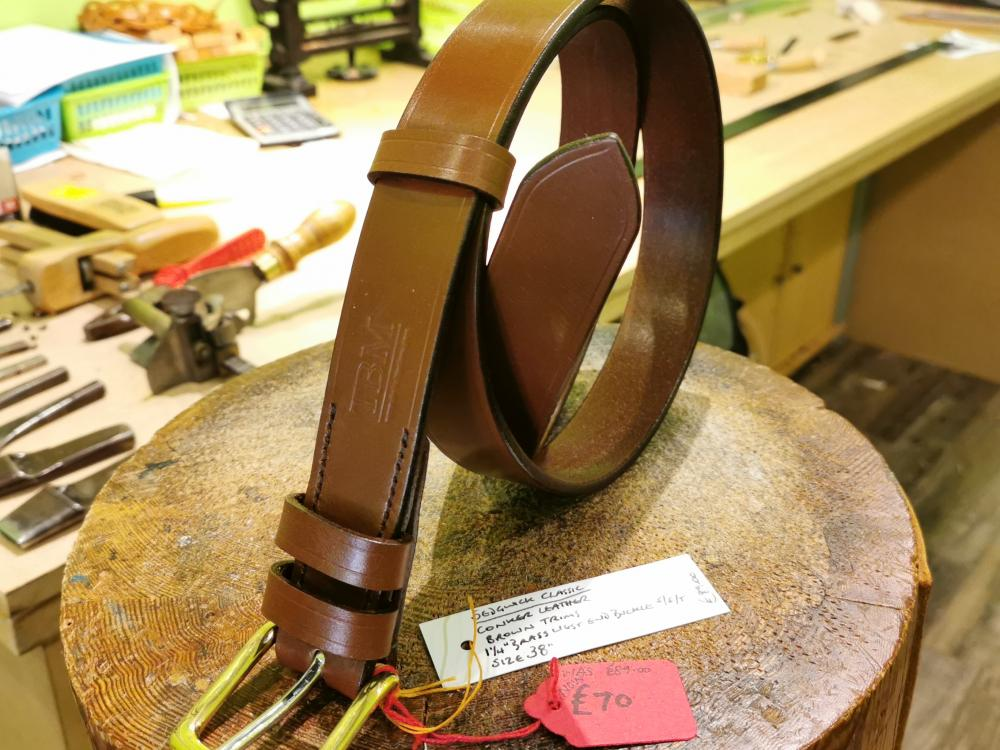 SALE - Classic Belt in Conker and Brown - Was £89, Now £70