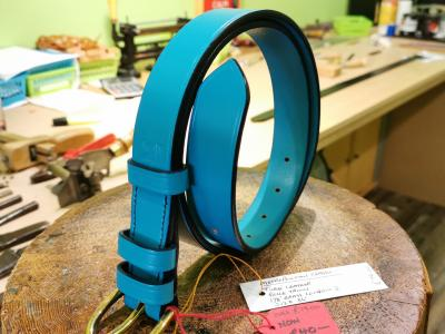SOLD - SALE - Classic Belt, Turquoise with Dark Blue detail - Was £79, Now £40