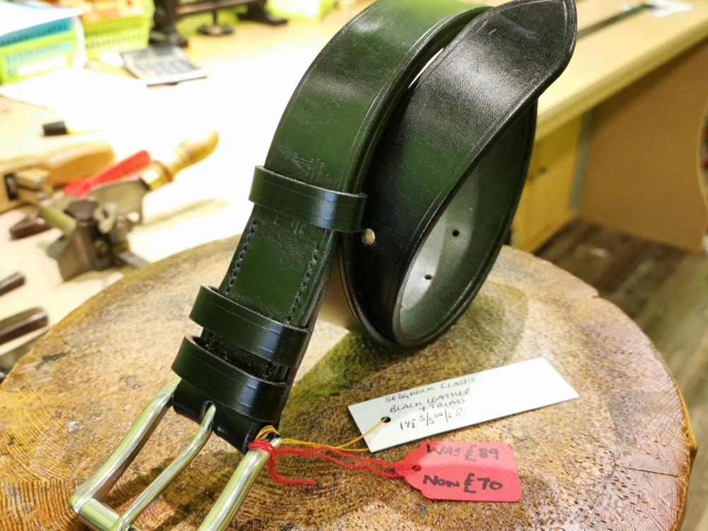 SOLD - SALE - Classic Belt, Black with Black trims - Was £89, Now £70