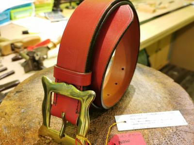 SALE - Classic Belt, Red with Dark detail - Was £95, Now £50