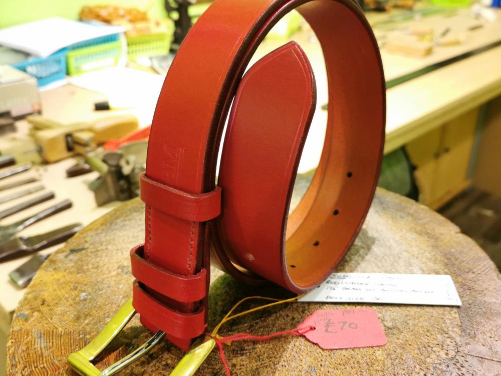 SALE - Classic Belt, Red with Red trims - Was £89, Now £70