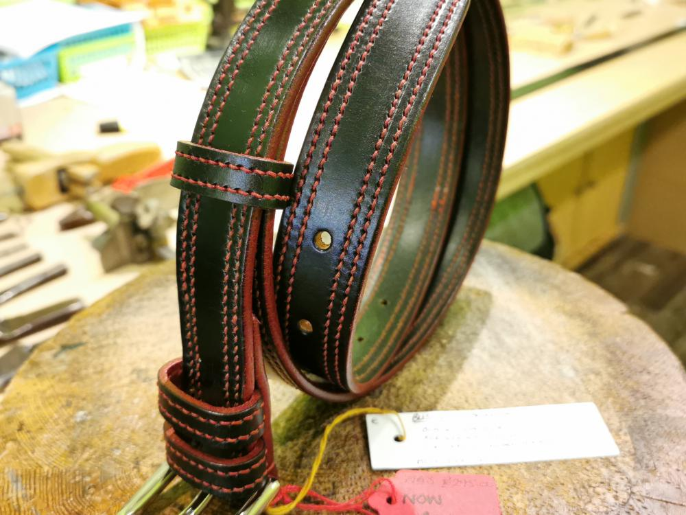 SALE - Double Border Belt, Black and Red - Was £295, Now £150