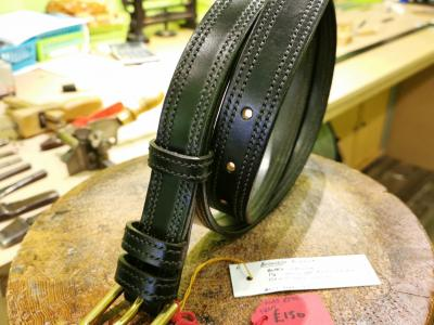 SALE - Double Border Belt, Black and Dark Green - Was £295, Now £150