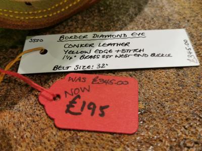 SALE - Diamond Eye Border Belt, Conker and Yellow - Was £345, Now £195