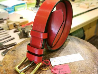 SALE - Classic Belt, Red with Dark Green trims - Was £89, Now £70