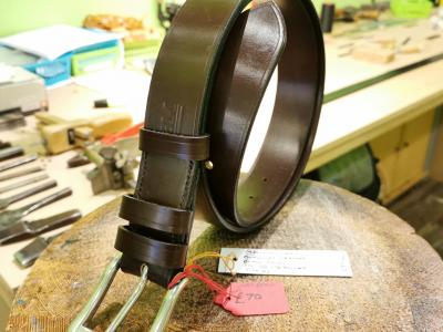 SOLD - SALE - Classic Belt, Burgundy with Black trims - Was £89, Now £70