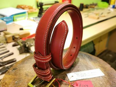 SOLD - SALE - Raised Belt, Red and White - Was £335, Now £159