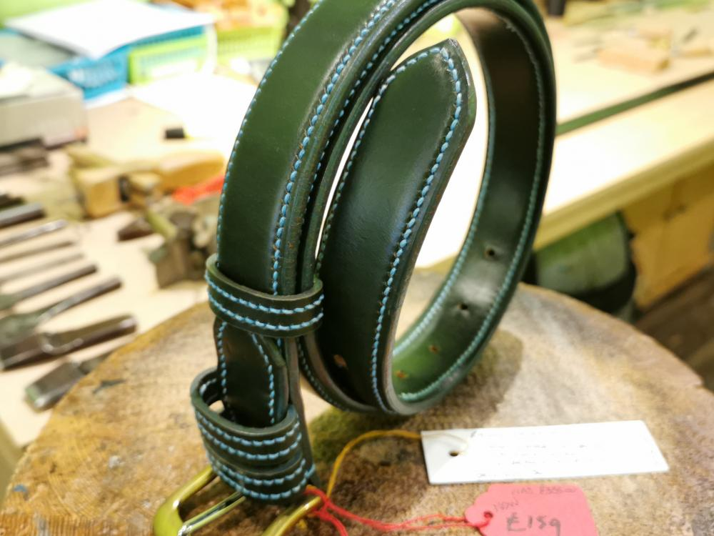 SALE - Raised Belt, Green and Teal - Was £335, Now £159