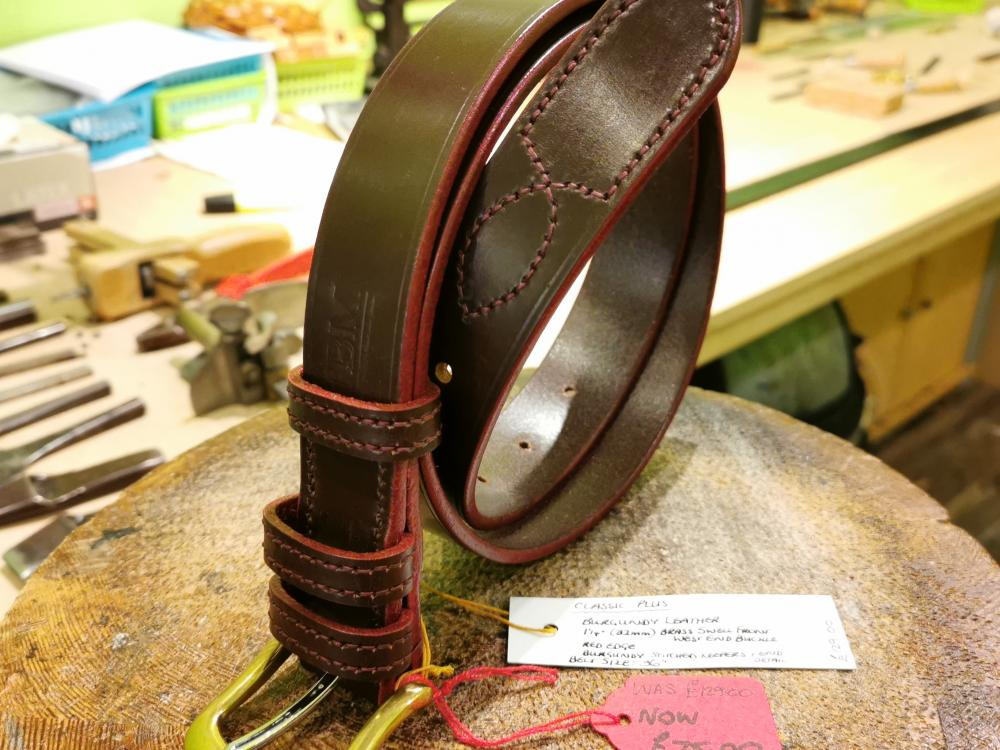 SALE - Classic Plus Belt, Burgundy with Red detail - Was £129, Now £75