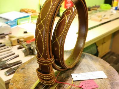 SALE - Diamond Eye Raise Belt, Conker and Yellow - Was £455, Now £195