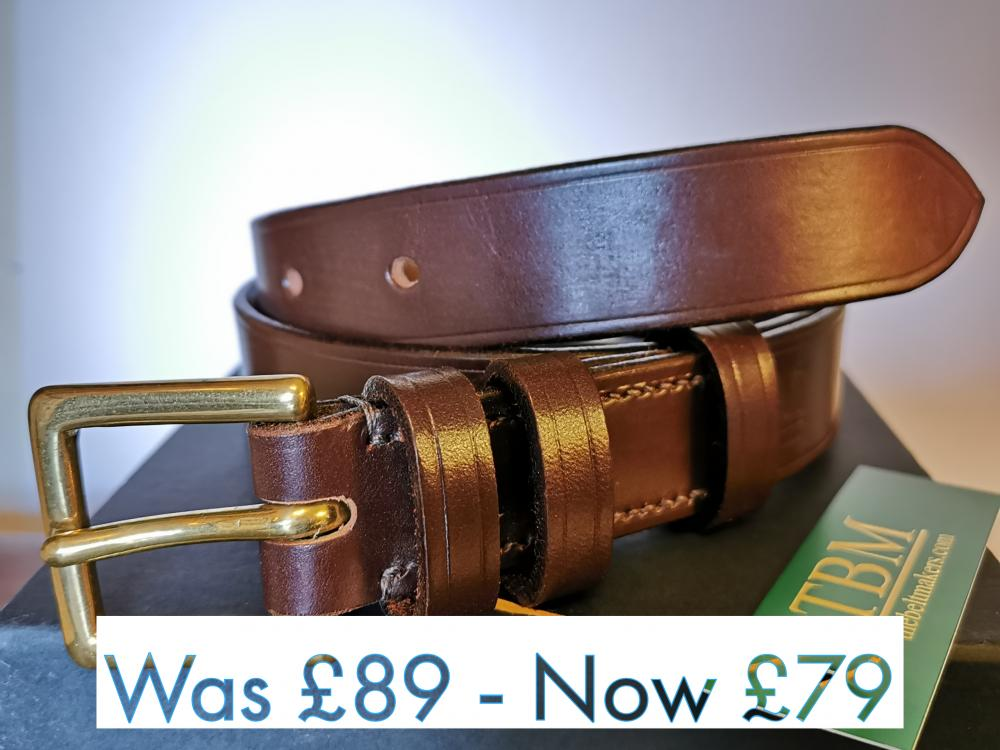 #SALE - Classic Formal Belt in Australian Nut and Brown (B) (small)
