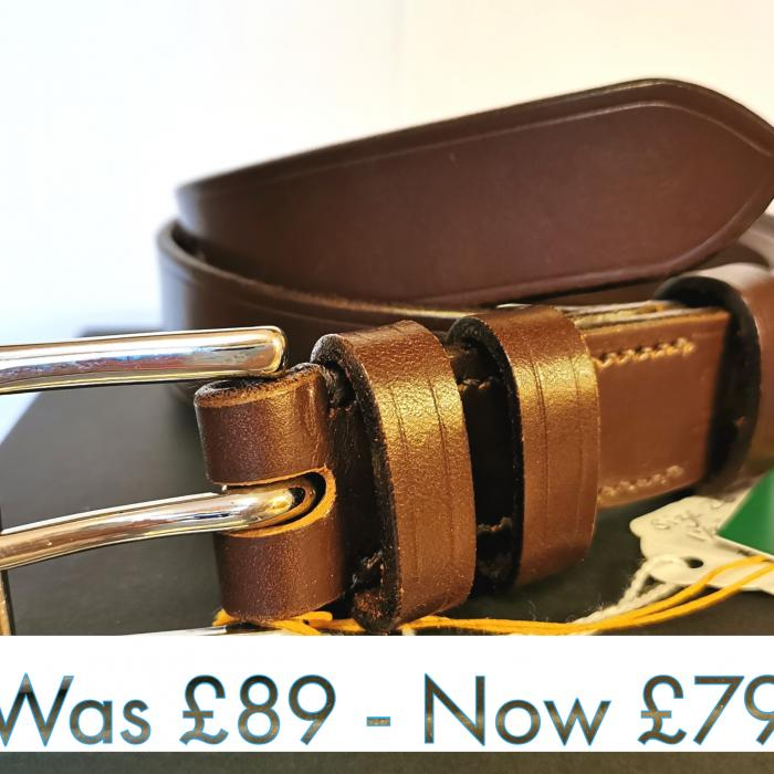 #SALE - Classic Formal Belt in Australian Nut and Brown (Np) (small)