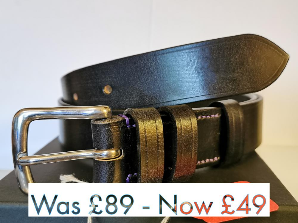 #SALE - Classic Formal Belt in Black and Purple (small)