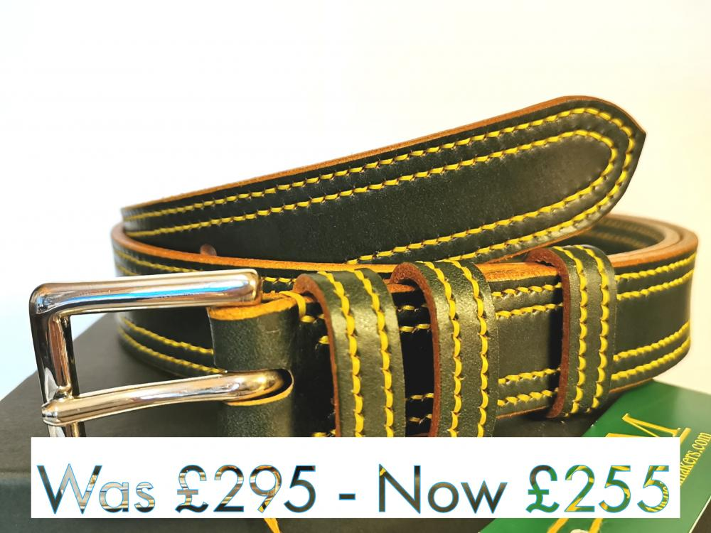 #SALE - Double Border in Green with Yellow detail