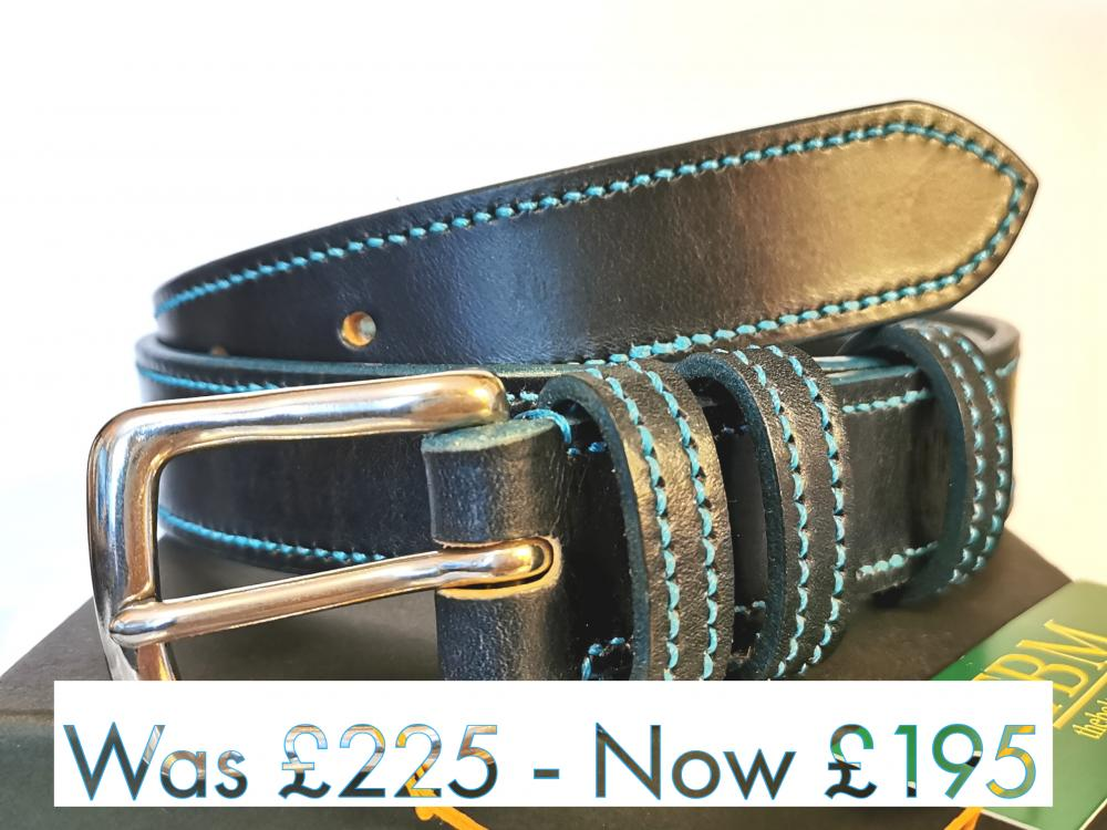 #SALE - Teal Trims: Border Belt in Blue and Teal (Limited Edition) (Med)