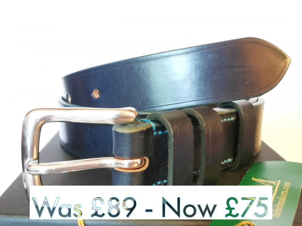 #SALE - Teal Trims: Classic Belt in Blue and Teal (Limited Edition) (small)