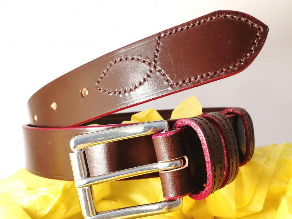 (1 left) Classic Plus Belt in Burgundy and Red