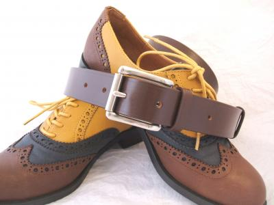 Bravo: Classic Belt in Australian Nut and Brown