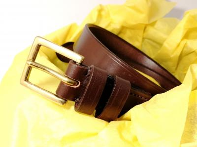 Dress Classic Belt in Australian Nut and Brown