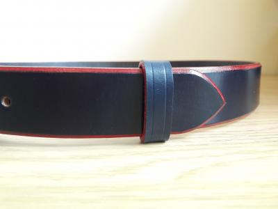 Bold Classic Belt in Blue and Red