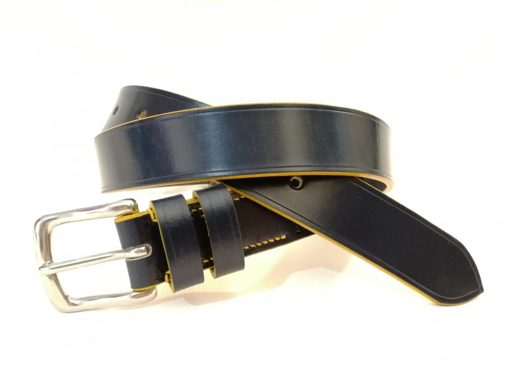Classic Belt in Blue and Bright Yellow