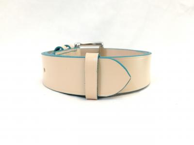 Classic Belt in Cream and Turquoise