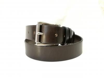 Classic Belt in Dark Havana and Black (1½ inch width)