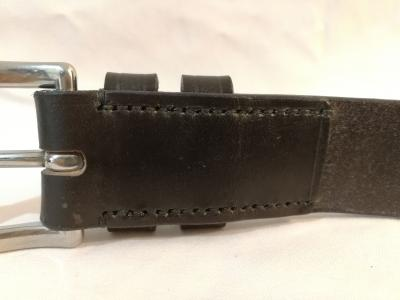 Classic Belt in Dark Havana and Black (1¼ inch width)