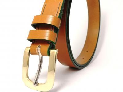 Classic Belt in Light Havana and Green
