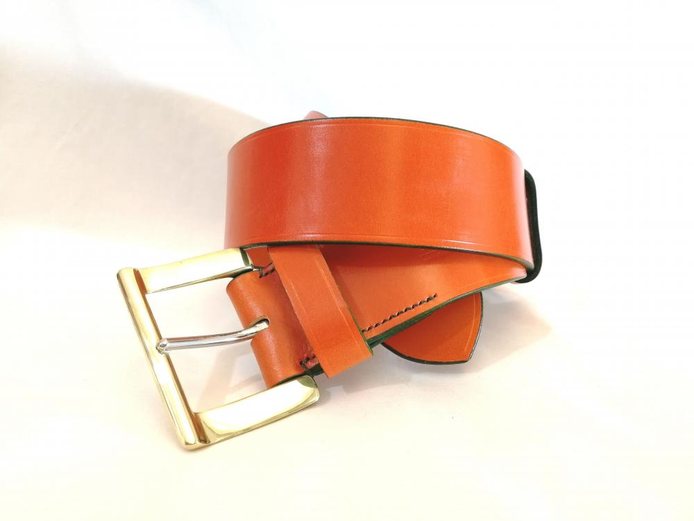 Classic Belt in Orange and Green