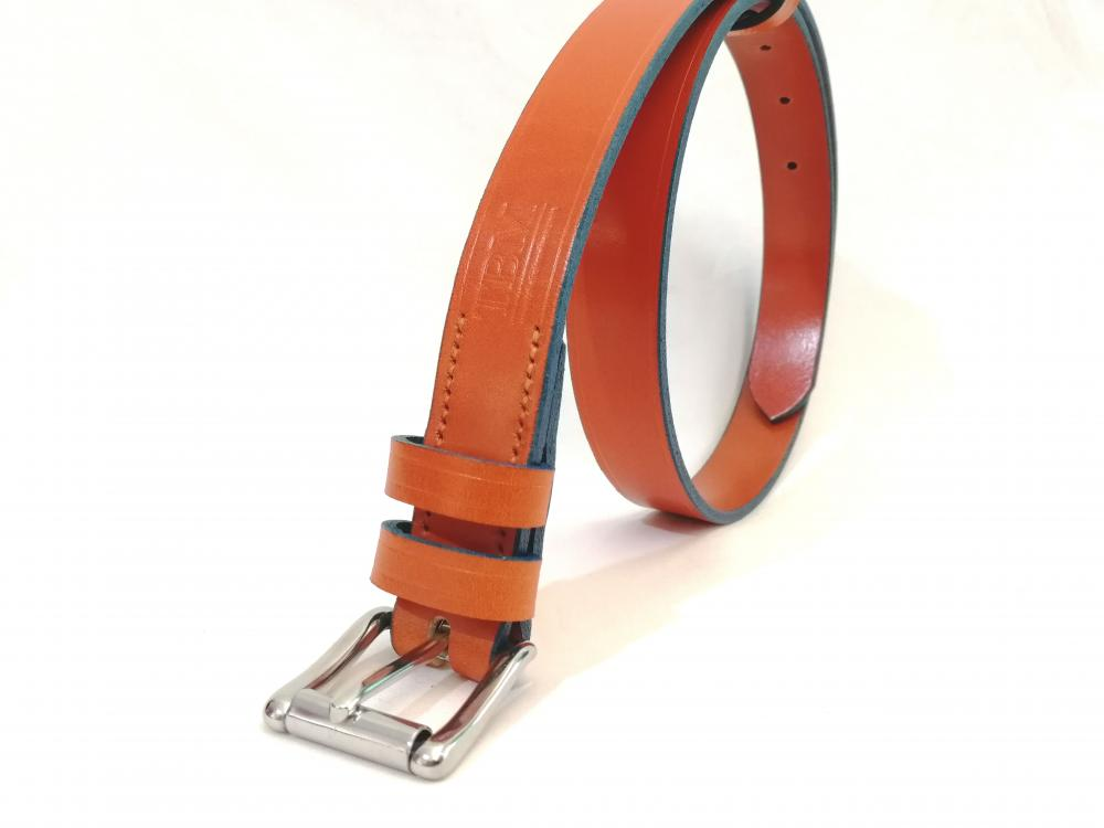 Classic Belt in Orange and Blue