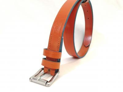 (Last one) Classic Belt in Orange and Blue