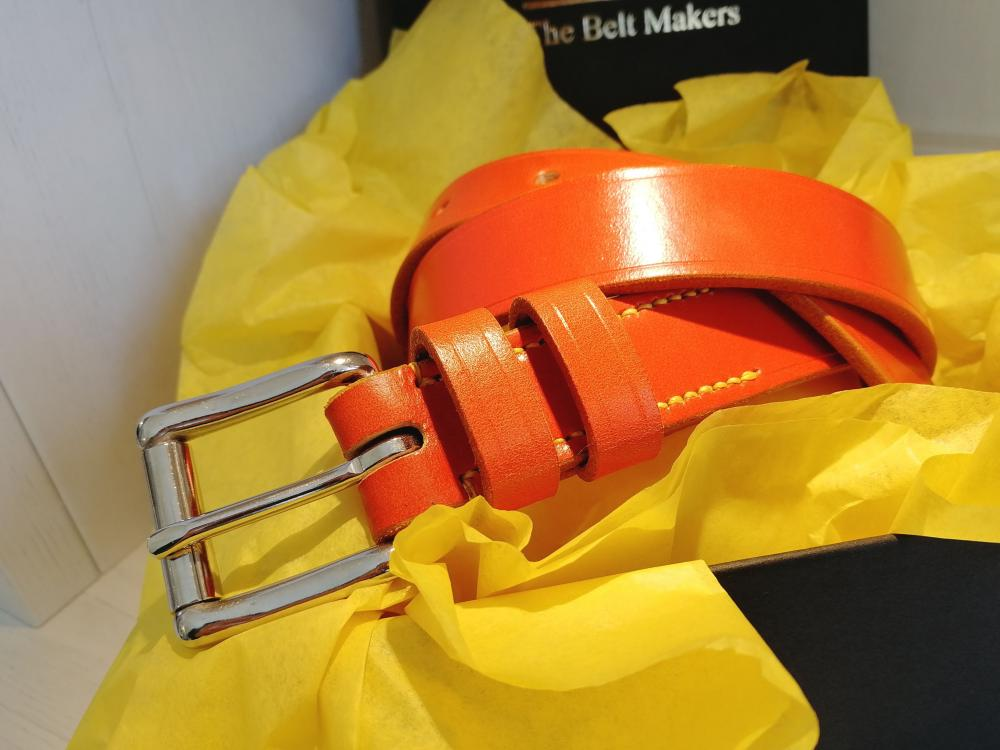 1 Classic Belt in Orange and Yellow