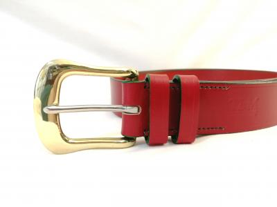 Classic Belt in Red and Green