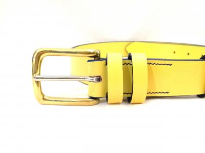 Classic Belt in Yellow and Blue
