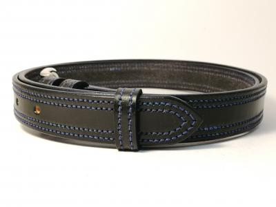 Double Border in Black with Blue detail