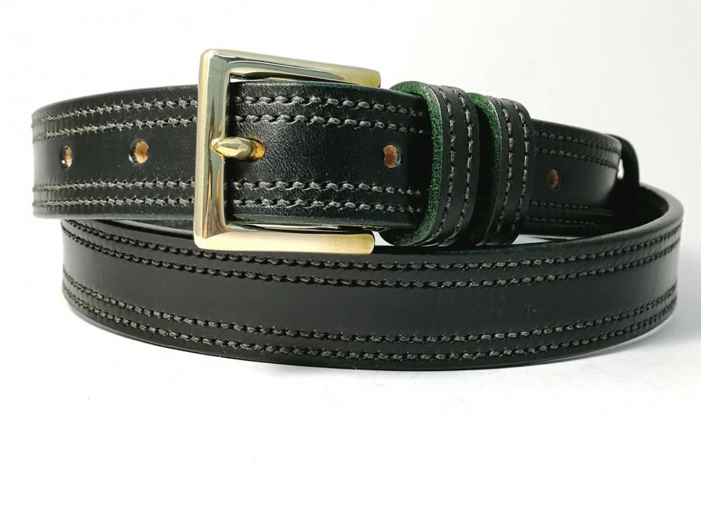 Double Border in Black with Green detail