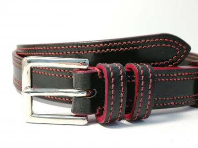 Double Border in Black with Red detail