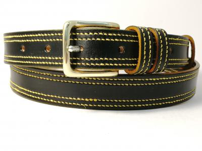 Double Border in Black with Yellow detail