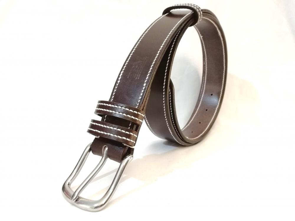 Border Belt in Dark Havana and White
