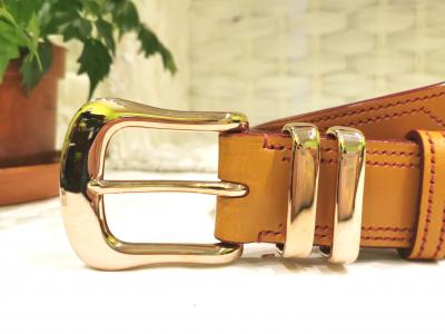 NEW - Rose Gold Plated Buckle Set - Classic Belt