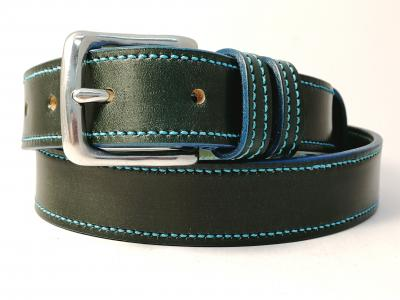(1 ex-display item in stock today) Teal Trims: Border Belt in Green and Teal (Limited Edition)