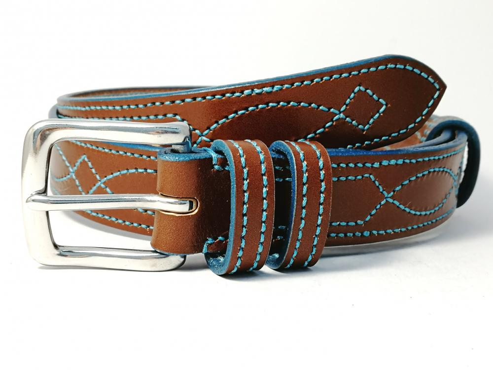 Teal Trims: Border Diamond Eye in Conker and Teal (Limited Edition)