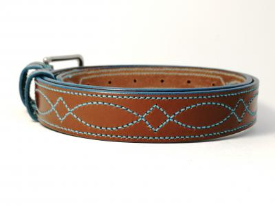 (1 ex-display item in stock today) Teal Trims: Border Diamond Eye in Conker and Teal (Limited Edition)