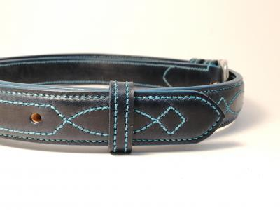 Teal Trims: Raised Diamond Eye in Blue and Teal (Limited Edition)