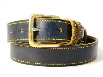 Yellow Trims: Border Belt in Blue and Yellow