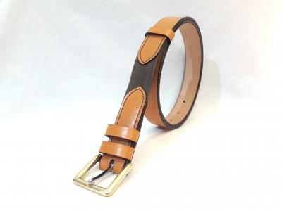 (1 in stock today) Dining Belt Classic style in London Tan and Brown