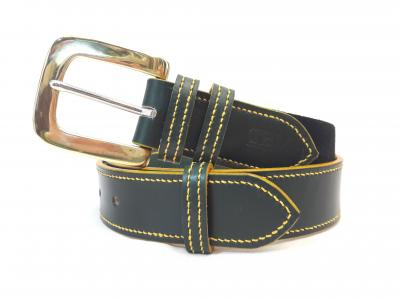 Dining Belt in Green and Yellow, Border style